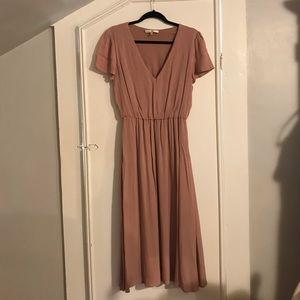 Wayf Blouson Midi Dress Size Medium